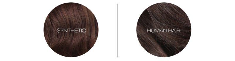 synthetic vs human hair